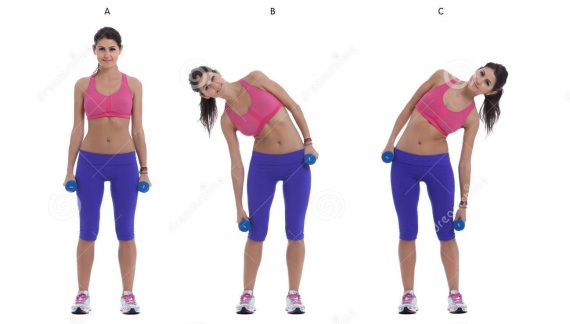 side-bend-dumbbells-step-step-instructions-stand-your-feet-hip-width-apart-holding-pair-your-sides-sideways-to-55457115